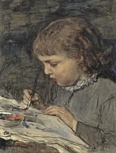 De jonge kunstenaar