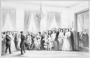 Het 25-jarig huwelijksfeest van het echtpaar Bahlman-Biederlack