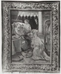 Batseba komt tot David, die door Abisag verzorgd wordt, om te pleiten voor het koningschap van Salomo. Natan luistert aan de deur mee (1 Koningen 1:1-21)