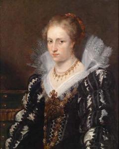 Portret van Jacqueline van Caestre (?-1618), echtgenote van Jean-Charles de Cordes