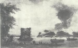 Hertenjacht op de Rijn bij Grimlinghausen
