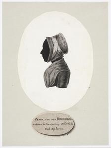 Portret van Clara van den Broecke (1764-1841)