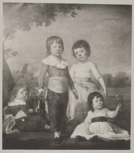 Foto van een portret van de kinderen van Sebastiaan Cornelis Nederburgh (1762-1811) en Elisabeth Geertruy Scheltus (1767-1822)