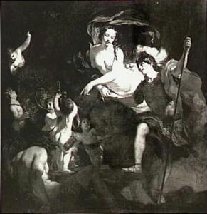 Venus schenkt Aeneas een wapenrusting