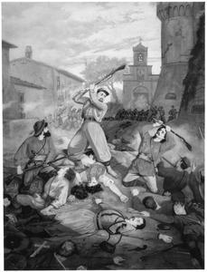 Pieter Jansz. Jong uit Lutjebroek in gevecht met Garibaldisten bij Montelibretti