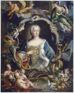 Allegorisch portret van prinses Maria Clementina Sobieska (1702-1735)