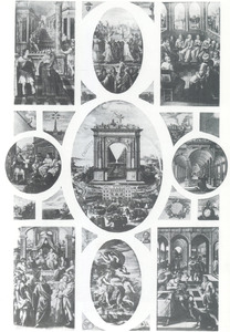 Reeks van 25 plafondschilderingen in de Rode zaal (Ratusz Główny) in het raadhuis van Gdansk