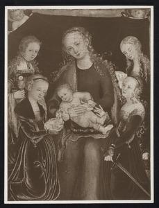 Maria met kind en vier heiligen