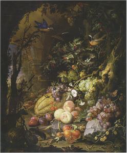 Vruchten in een ruïne