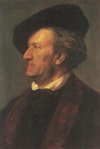 Portret van de componist Richard Wagner (1813-1883)