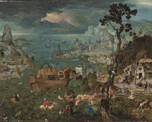 Landschap met de zondvloed en de Ark van Noach