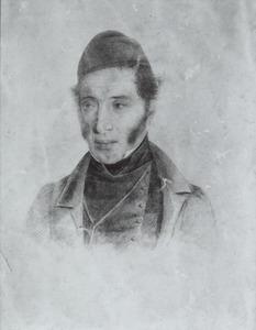 Portret van een man, waarschijnlijk Franciscus Mattheus Jozef Kierdorff (1777-1855) of mogelijk zijn zoon Jean Mathieu Kierdorff (1803-1882)
