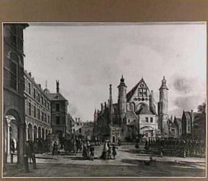 Het Binnenhof in Den Haag met de Ridderzaal