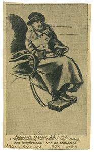 Portret van Martha van Vloten