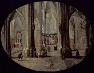 Interieur van de O.L.V. Kathedraal te Antwerpen