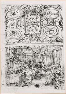 Schetsboekblaadje met twee voorstellingen van de serie Vermis Sericus