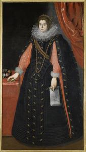 Portret van een vrouw, mogelijk Maria Maddalena van Oostenrijk, echtgenote van groothertog Cosimo de' Medici van Toscane
