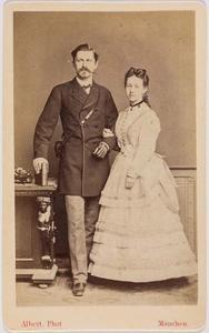 Portret van Frans Steven Karel Jacob graaf van Randwijck (1838-1913) en Josephine Arnoldina barones van Hogendorp (1840-1928)