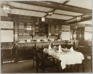 Scheepsinterieur s.s. Simon Bolivar, buffet in eetsalon 1e kl.
