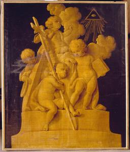 Camee-imitatie met allegorie op het Geloof