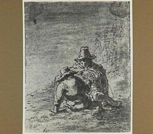 Lazarillo en de blinde bedelaar eten van de druiventros (Lazarillo de Tormes dl. 1, cap. 4, p. 11)
