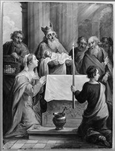 De vijftien mysteriën van de rozenkrans: Simeon met het Christuskind in de tempel