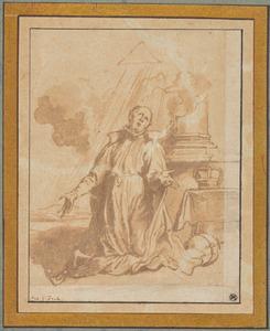 De Heilige Aloysius Gonzaga in extase