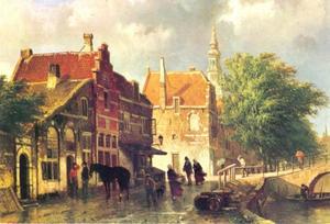 Gezicht op de Raamgracht te Haarlem