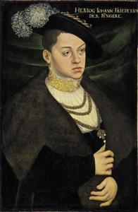 Portret van Johann Ernst von Sachsen (1521-1553), hertog van Sachsen-Coburg