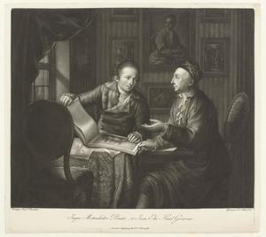 Dubbelportret van Johann Jakob Mettenleiter (1750-1825) en Johann Elias Haid (1739-1809)