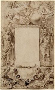 Ontwerp voor de titelpagina van Annales Ducum Seu Principum Brabantiae Totiusque Belgii, I-II