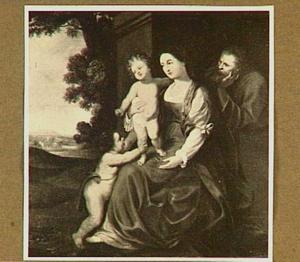 De heilige familie met putto