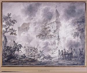 Beschieting van een kerkgebouw