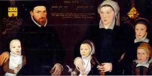 Portret van Albert Starrenburg (....-....) , Elisabeth de Coq (....-....) en hun kinderen