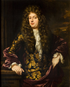 Portret van een man, mogelijk Joan Blaeu (1650-1712)