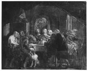 Christus wijst Judas Iskariot aan tijdens het Laatste Avondmaal