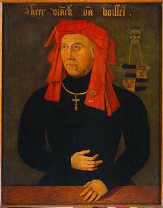 Portret van Frank van Borselen (ca. 1395-1470), vierde echtgenoot van Jacoba van Beieren. Stadhouder van Zeeland