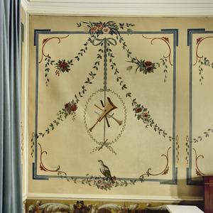Ornamenten met muziektrofee