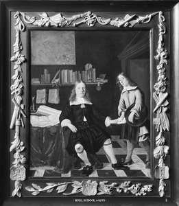 Portret van Jacob de Vogelaer (1625-1697), met een bediende