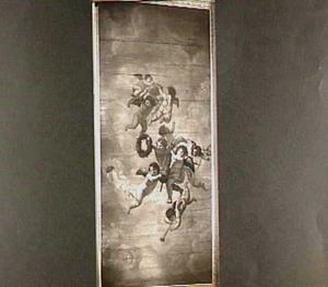 Allegorische voorstelling met putti die onder andere een keizerskroon dragen