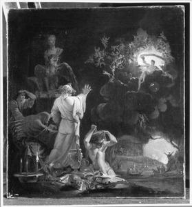 Vergilius en Dante aan de oevers van de Styx in de onderwereld
