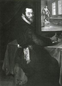Portret van Giambologna in zijn werkplaats
