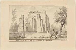 De ruïne van de kerk te Buttinge ten zuiden van Grijpskerke
