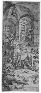 H. Sebastiaan bemoedigt Marcus en Marcellus in de gevangenis