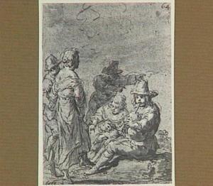 Lazarillo en herders zijn aanwezig bij de stervende kluizenaar (Lazarillo de Tormes dl. 2, cap. 19, p. 115)