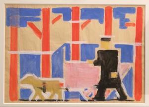 Studie voor 'Compositie no 1, 1917' en voor 'Compositie no 2, 1917'