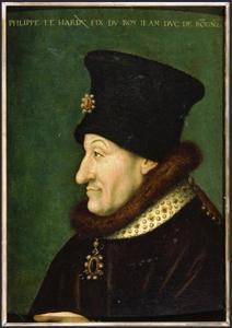 Portrtet van Philips 'de Stoute' hertog van Bourgondie (1342-1404)
