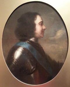 Portret van Peter de Grote (1672-1725) en profil