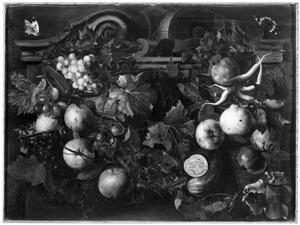 Guirlande van vruchten en wijnranken
