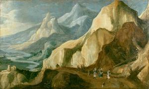 Berglandschap met rivierdal